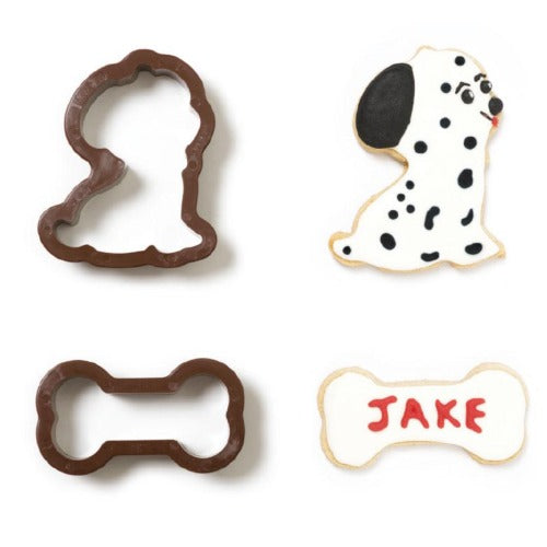 DOG & BONE COOKIE CUTTERS, SET OF 2