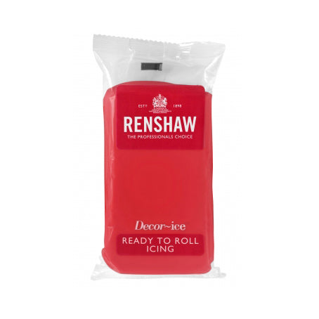 Renshaw Ready To Roll Icing, 250g, Poppy Red