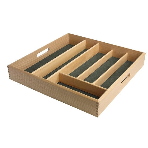 Drawer Size Cutlery Tray In Beech Wood