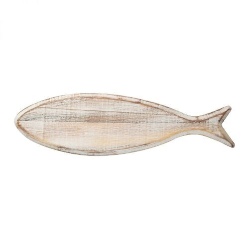 Ocean Fish Shaped Chopping Board, Rustic White