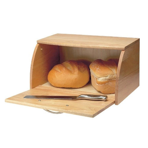 Drop Front Wooden Bread Bin
