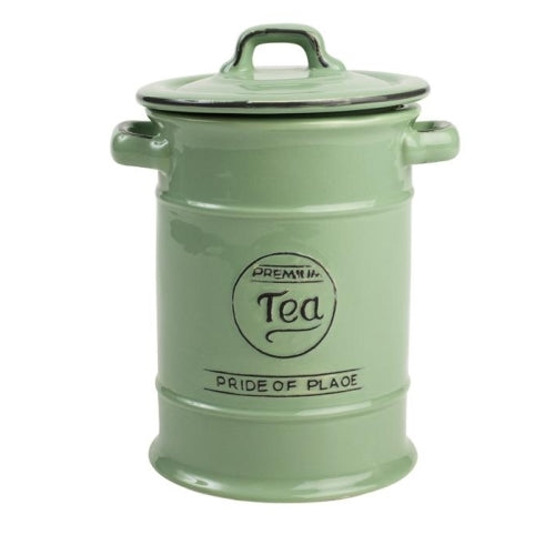 Pride Of Place Ceramic Tea Storage Jar, Old Green