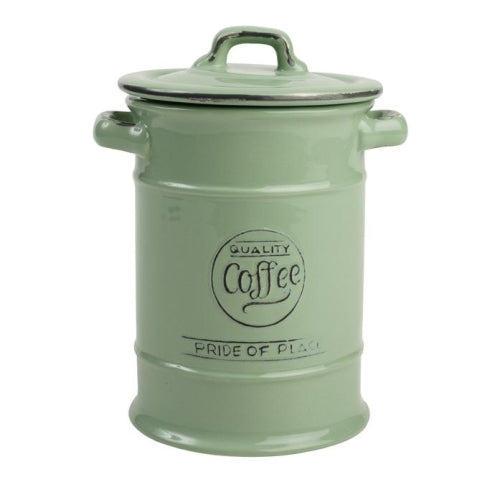 Pride Of Place Ceramic Coffee Storage Jar, Old Green