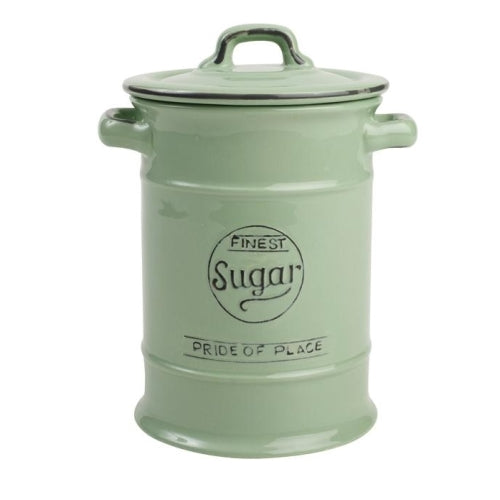 Pride Of Place Ceramic Sugar Storage Jar, Old Green