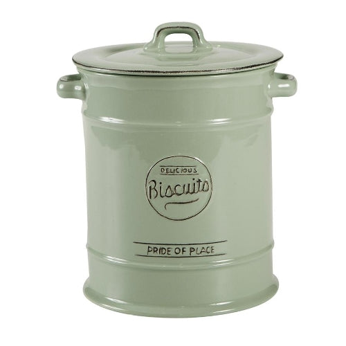 Pride Of Place Large Ceramic Biscuit Jar, Old Green