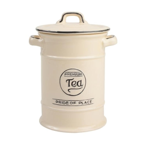 Pride Of Place Ceramic Tea Storage Jar, Old Cream