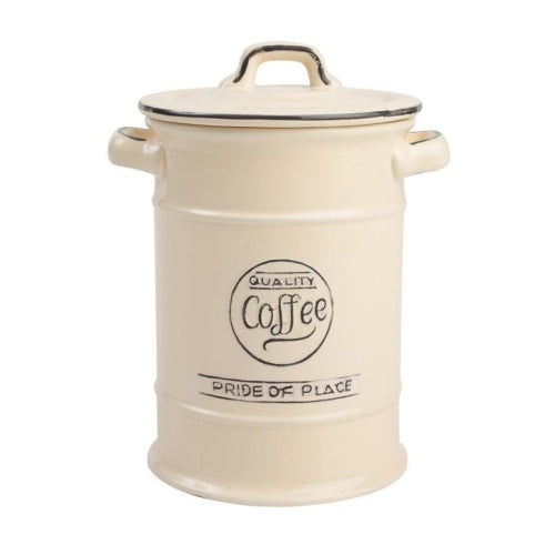 Pride Of Place Ceramic Coffee Storage Jar, Old Cream