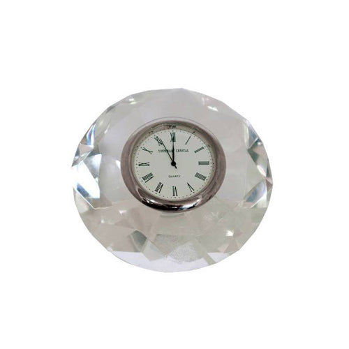 Tipperary Crystal Small Diamond Clock