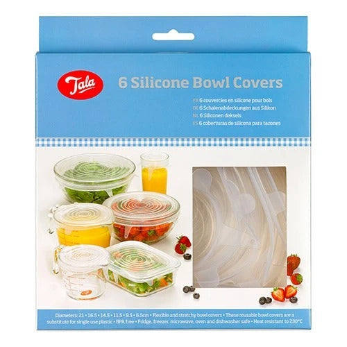 TALA SILICONE BOWL COVERS, SET OF 6