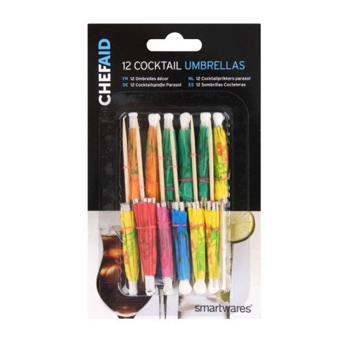 Chef Aid Cocktail Umbrellas, Pack Of 12