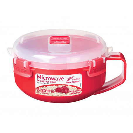 Sistema Microwave Breakfast / Oatmeal / Porridge Bowl, 850ml, Red