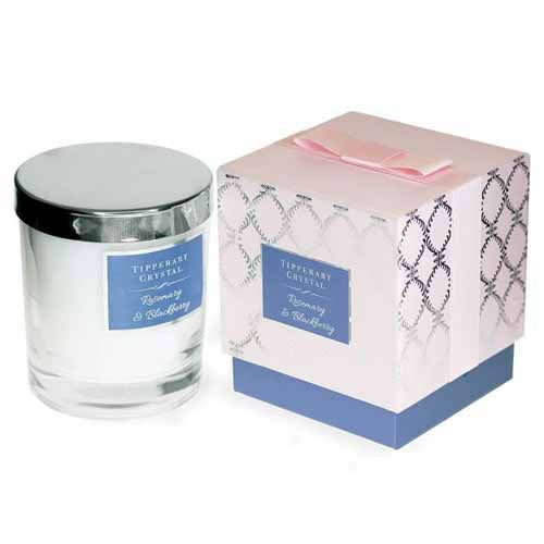 Tipperary Crystal Luxury Candle, Rosemary & Blackberry