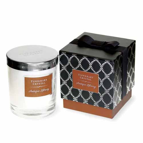Tipperary Crystal Luxury Candle, Antique Library