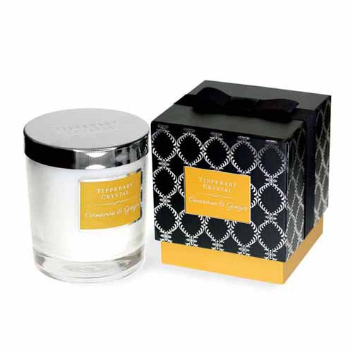Tipperary Crystal Luxury Candle, Cinnamon & Ginger