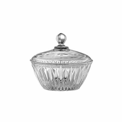 Galway Crystal Willow Lidded Bowl, 6.5""