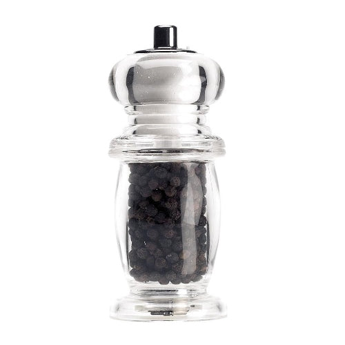 2 In 1 Bellied Combi Salt & Pepper Miill In Clear Acrylic