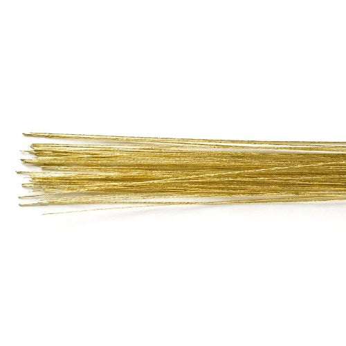 Culpitt Floral Wire, Pack Of 50, 24 Gauge, Gold