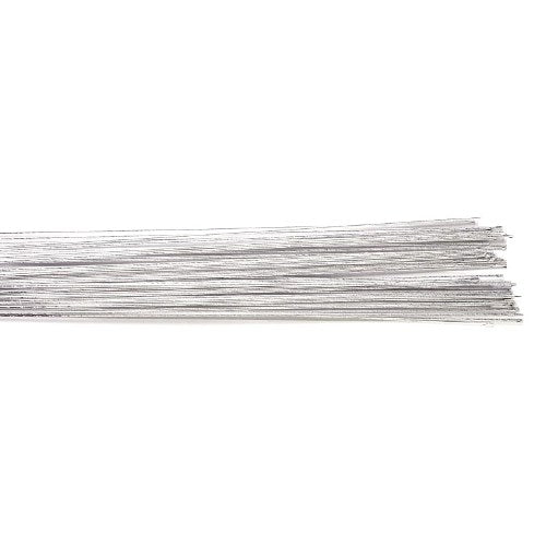 Culpitt Floral Wire, Pack Of 50, 24 Gauge, Silver