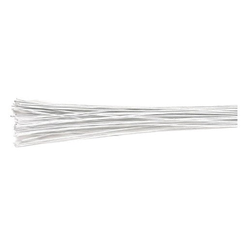 Culpitt Floral Wire, Pack Of 20, 18 Gauge, White