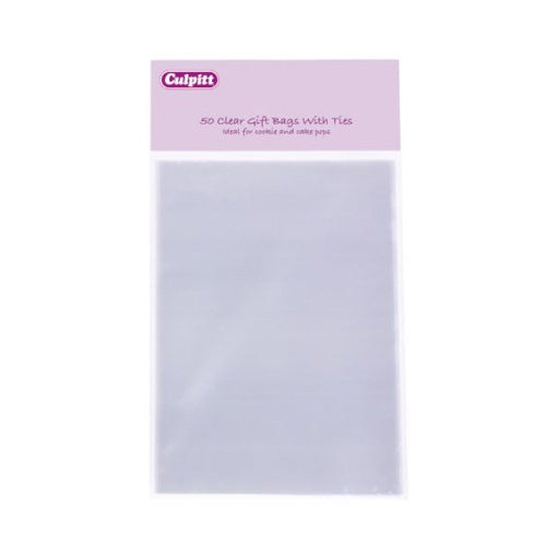 Clear Favour/Party Bags, Pack Of 50, 100mm x  155mm