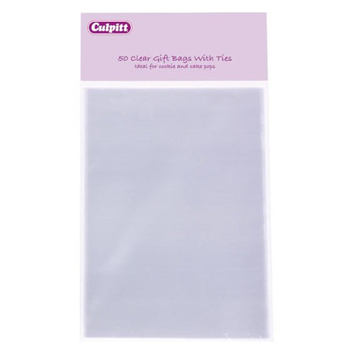 Clear Favour/Party Bags, Pack Of 50, Large, 120mm x 170mm