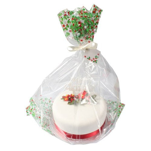 Holly Cake Bag With Ribbon & Gift Card