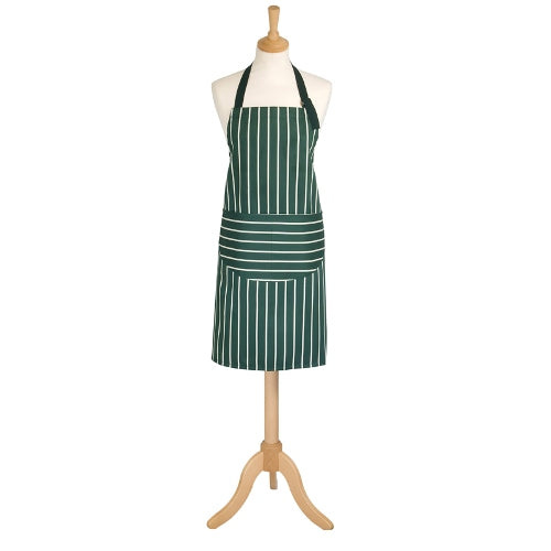 Classic Butchers Stripe Adult Apron, Racing Green