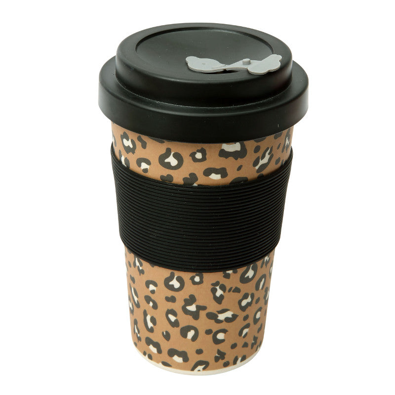 'BamBroo' Drinks Mug, 400ml, Leopard
