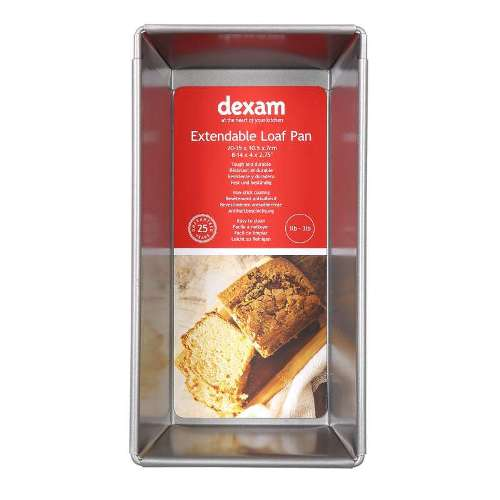 Dexam Non-Stick Expandable Loaf Pan, 1lb to 3lb