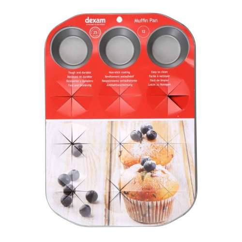 Dexam Non-Stick 12 Cup Muffin Pan