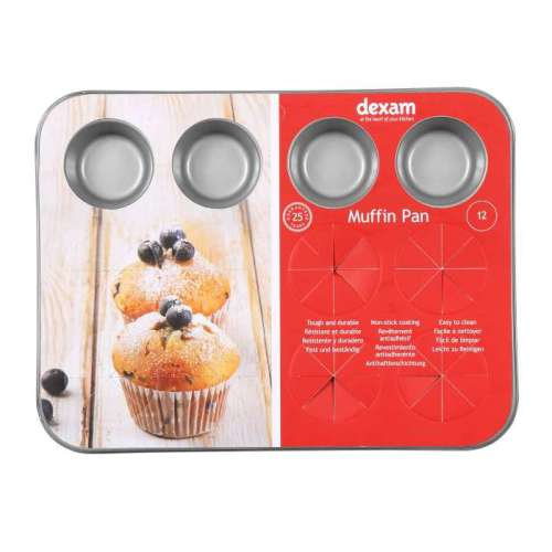 Dexam Non-Stick 12 Cup Mini Muffin Pan