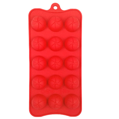 Dexam Round Chocolate Mould, Red