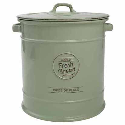 Pride Of Place Ceramic Bread Crock, Old Green