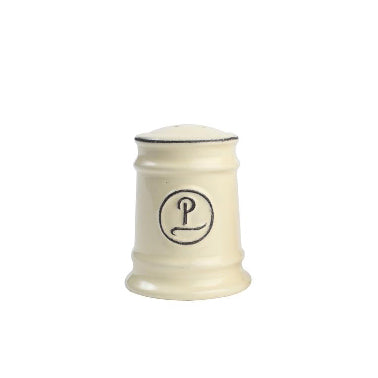Pride Of Place Ceramic Pepper Shaker, Old Cream
