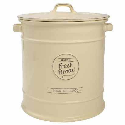 Pride Of Place Ceramic Bread Crock, Cream