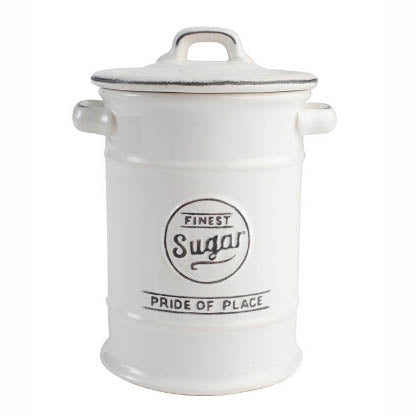 Pride Of Place Ceramic Sugar Storage Jar, White