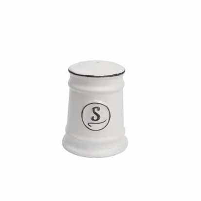 Pride Of Place Ceramic Salt Shaker, White