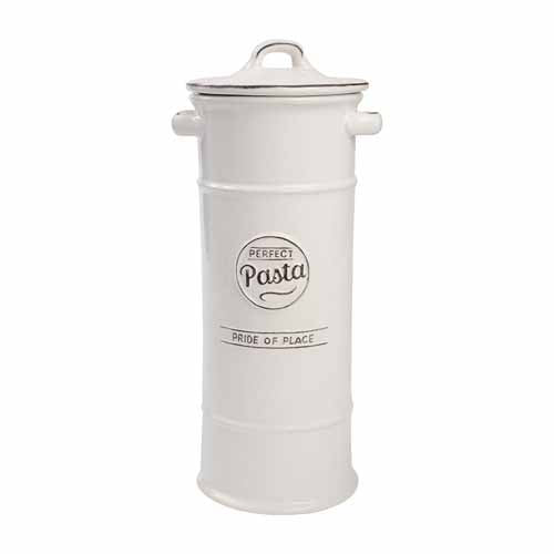 Pride Of Place Ceramic Pasta Jar, White