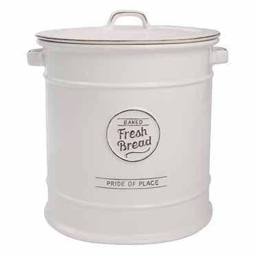Pride Of Place Ceramic Bread Crock, White