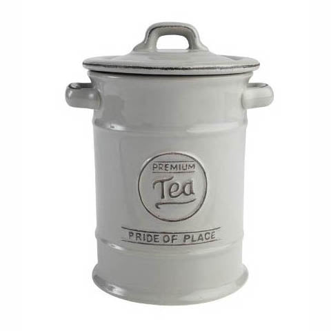 Pride Of Place Ceramic Tea Storage Jar, Cool Grey