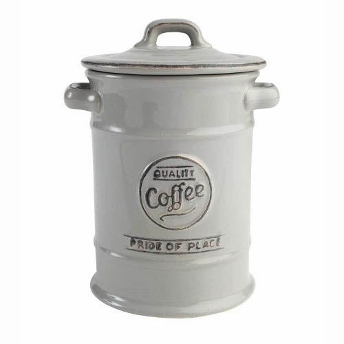 Pride Of Place Ceramic Coffee Storage Jar, Cool Grey