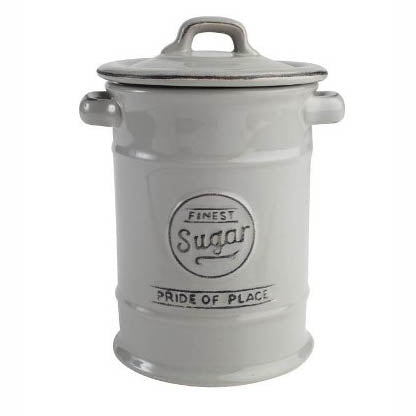 Pride Of Place Ceramic Sugar Storage Jar, Cool Grey