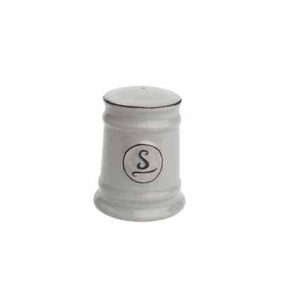 Pride Of Place Ceramic Salt Shaker, Grey