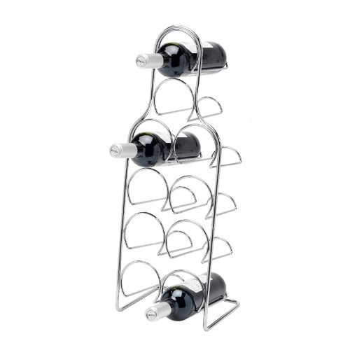 Pisa Chrome Wine Rack, 10 Bottle