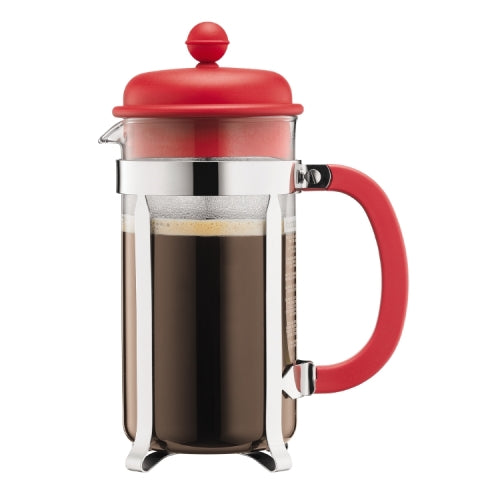 Bodum Caffettiera French Press Coffee Maker, 8 Cup, Red