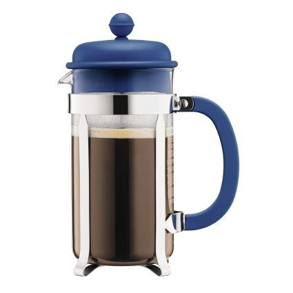 Bodum Caffettiera Coffee Maker, 8 Cup, Denim Blue