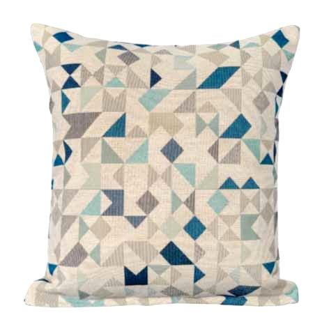 Geometric Poly Filled Cushion, 45cm