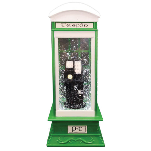 Light Up Christmas Glitter Irish Phone Box, Phone