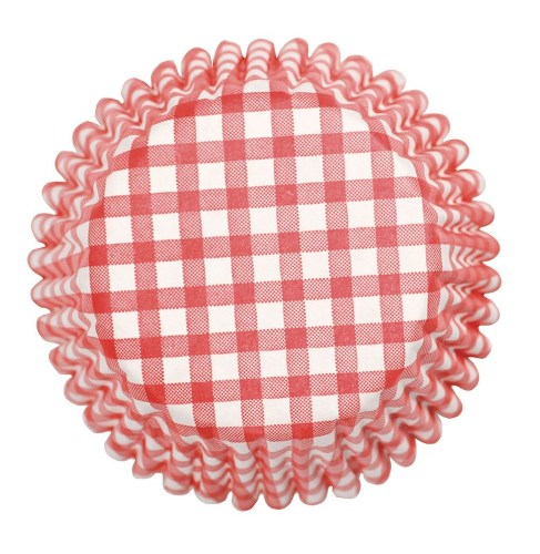Culpitt Gingham Printed Baking Cases, Pack Of 54, red