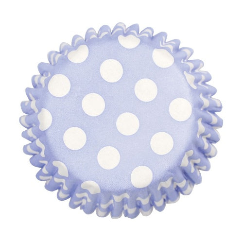Spot Printed Baking Cases, 50mm, Blue